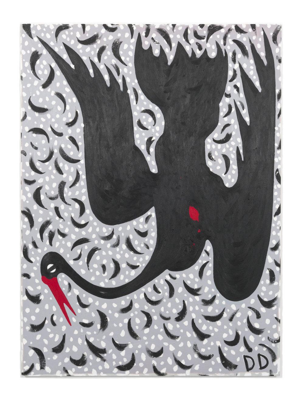 Black Swan  Oil on Flax  170 x 230 cm  2018