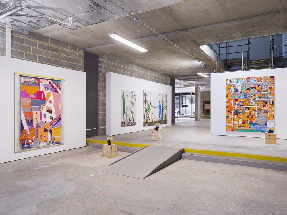 Condo London   Installation View  Koppe Astner group presentation with Tom Howse and Kris Lemsalu  2019