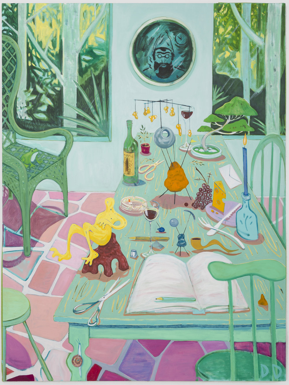 Garden Studio 2  Oil on Flax  150 x 200 cm  2018