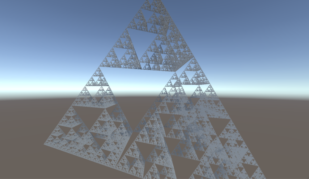sierpinski triangle, affine transformation fractal