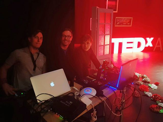 @josephsheedy Velotron has joined us on stage at TEDx Aarhus! This show just improved by an order of magnitude @tedxaarhus @sophiebech