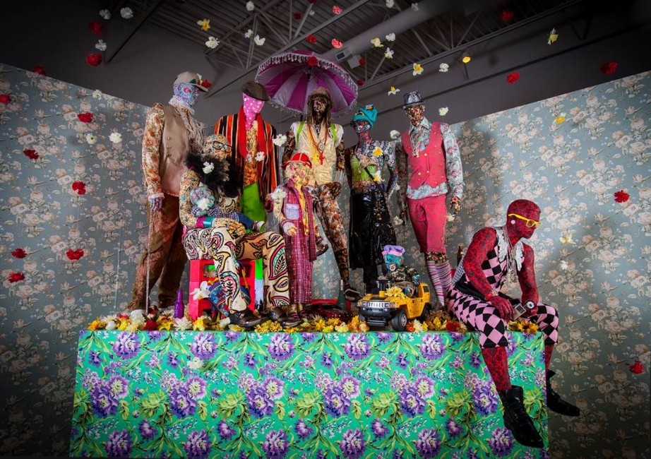 Ebony G. Patterson, Swag Swag Krew (from the Out and Bad series), Installation view, John Michael Kohler Arts Center, 2011–14. Courtesy of the artist and Monique Meloche Gallery, IL. Photo- John Michael Kohler Arts Center.jpg