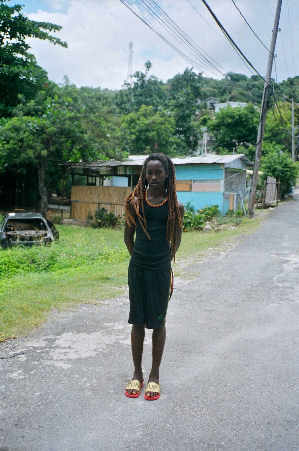 """Prince """"He lives in Drapers, where I am from in Jamaica. I have known him as a likkle youth. He has always been quiet towards me and just smiles :) this may be a young crush but he definitely runs the younger generations in the area. His fadah is called KING."""""""
