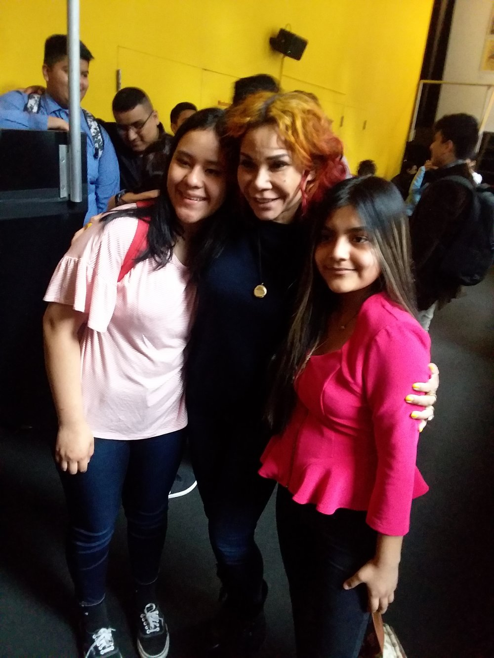 Martha and Esme with lead actress, Daphne Rubin-Vega