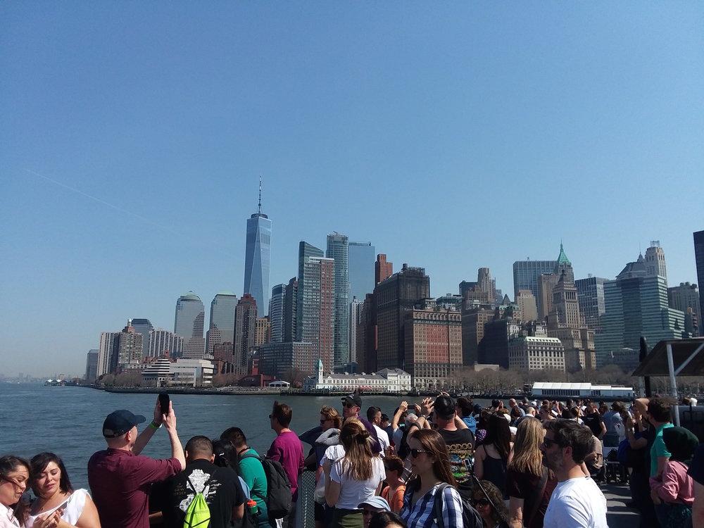 Leaving Manhattan for Ellis Island