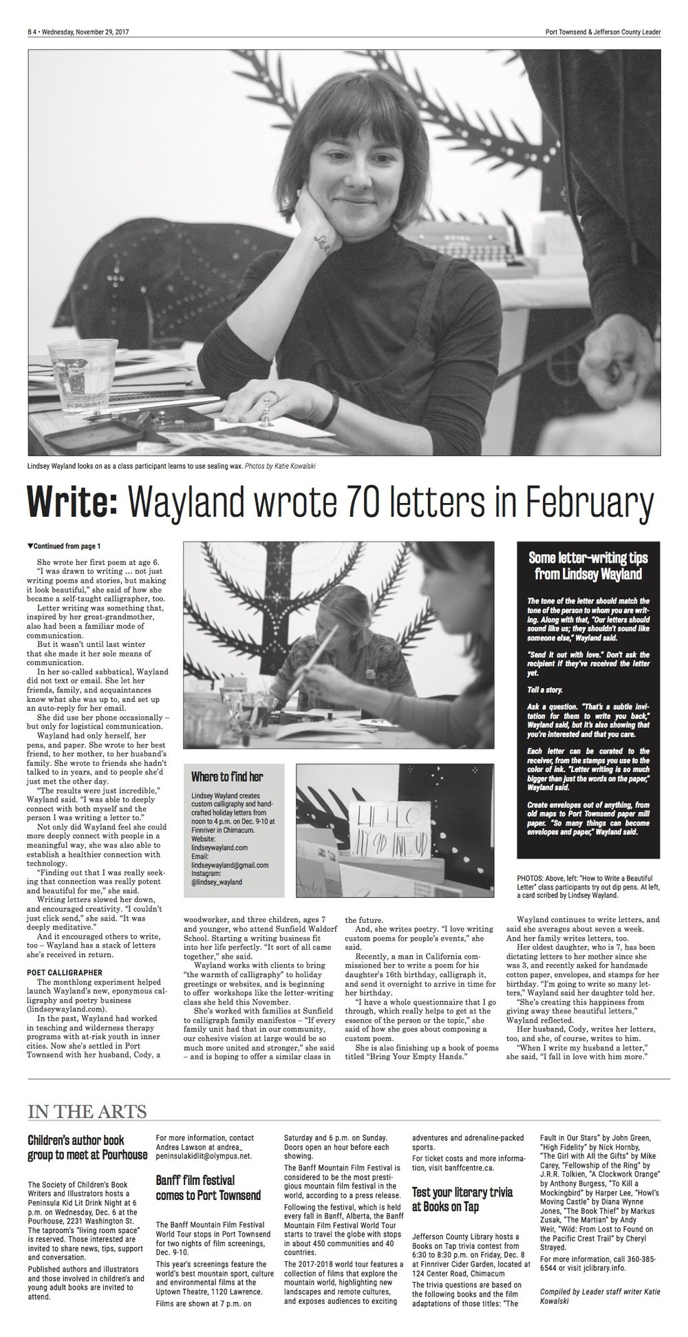 lindsey wayland press 2 11/29/17