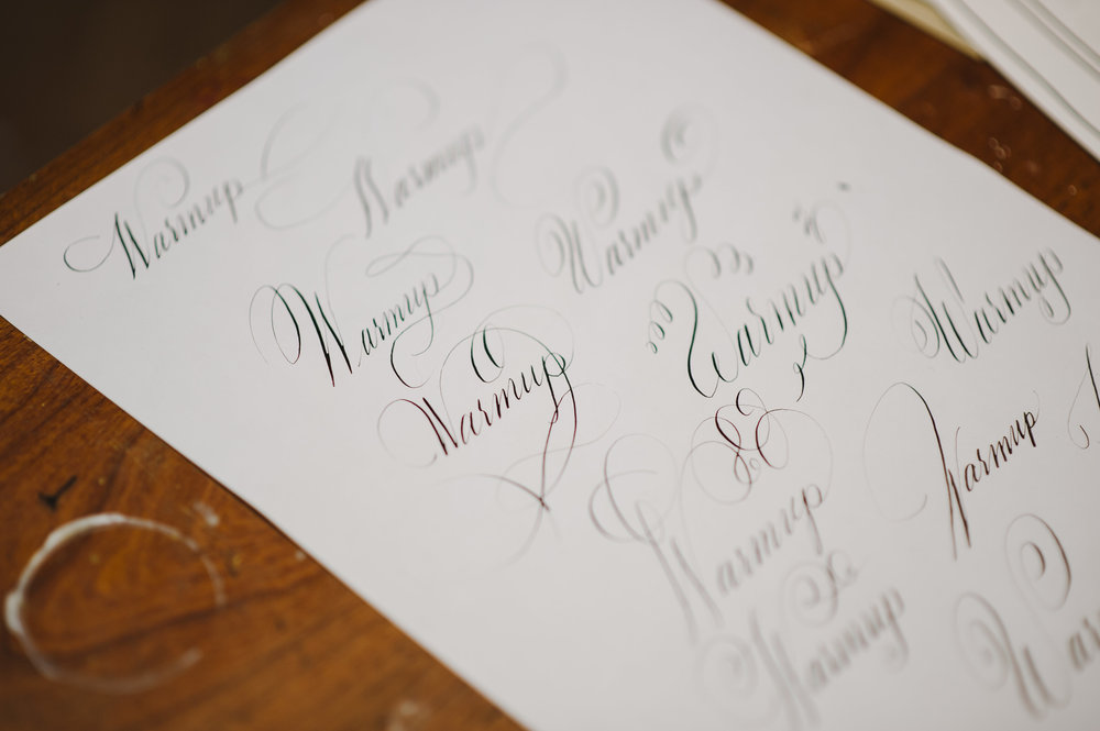 lindsey wayland introduction to pointed pen calligraphy class