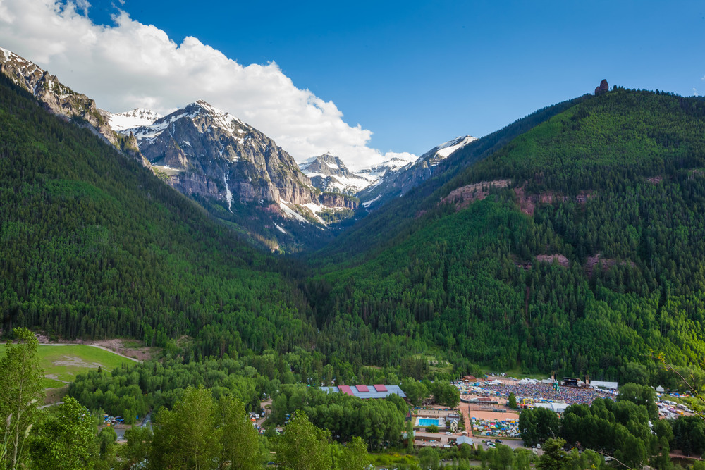 It was such an incredible view overlooking the Bluegrass Festival (bottom right) in Telluride.