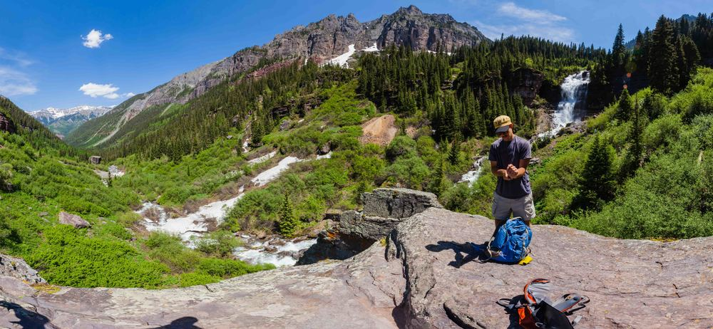 "The fruits of our hike in Telluride, ""Bear Creek Falls."""