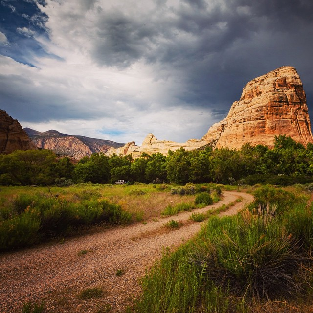 Road Trip Day 26: Road to our campsite next to Steamboat Rock in Dinosaur National Monument. The view was great but the amount of mosquitos and spiders present wasn't so great... #roadtrip