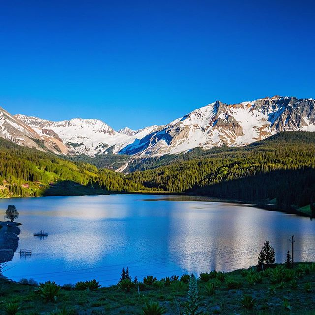 Road Trip Day 31: A lake and some mountains just outside of #Telluride #ColoRADo #roadtrip