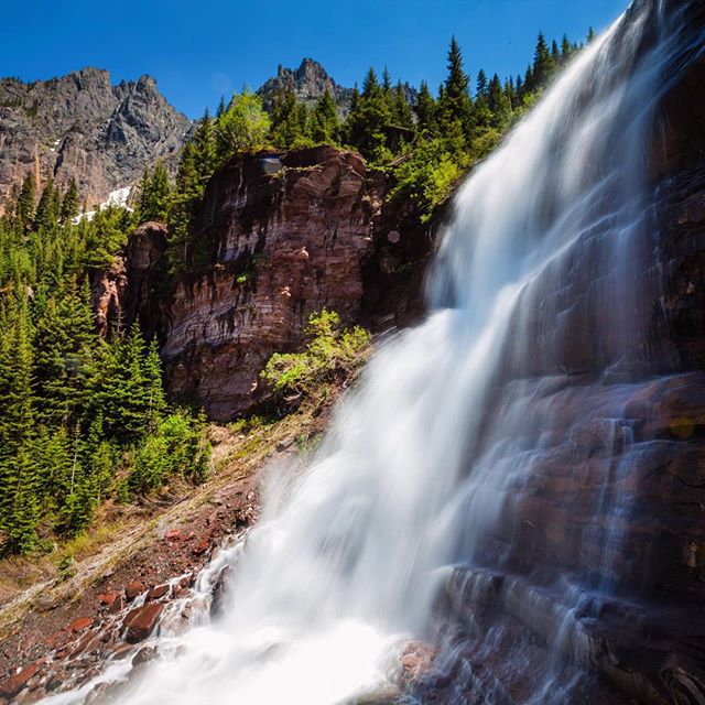 Road Trip Day 33: A #waterfall at the top of Bear Creek, aptly named Bear Creek Falls in #Telluride #ColoRADo