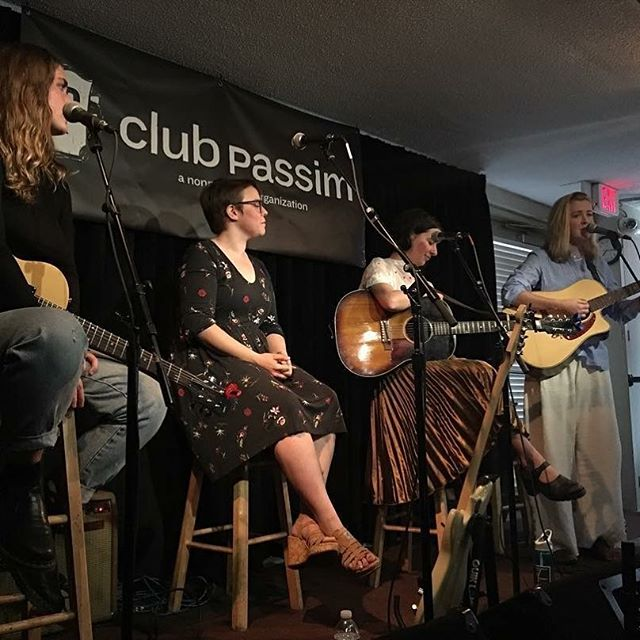 Had so much fun playing at @clubpassim tonight and sharing the stage with some incredible ladies!