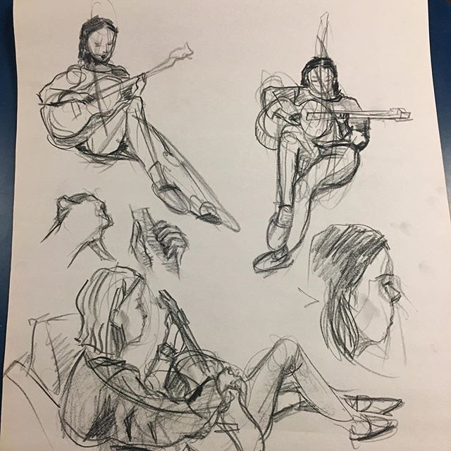I'm performing at Watchung Booksellers in Montclair tonight with @tallulahbenari and @sammit_ from 5:30-7! Come support your local bookstore and local musicians! ✨ (lil sketches by @amy.chu1 a while back)