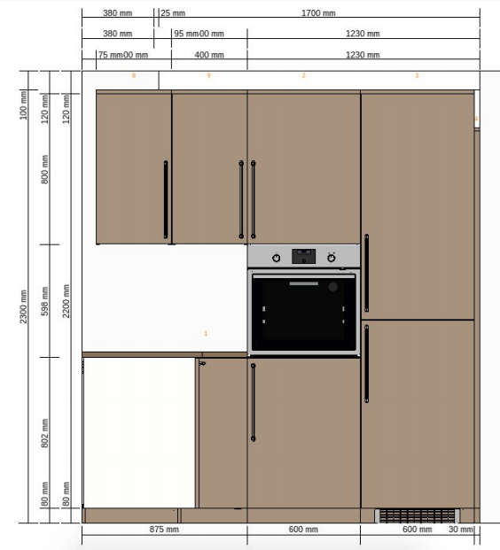 My IKEA kitchen short wall plan