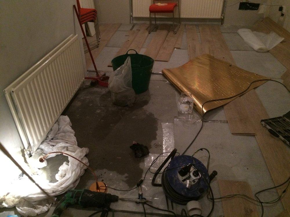 Living room radiator leak