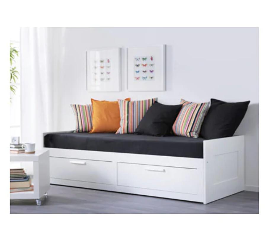 - IKEA BRIMNES Day-bed w 2 drawers/2 mattresses€37080 x 200 cm