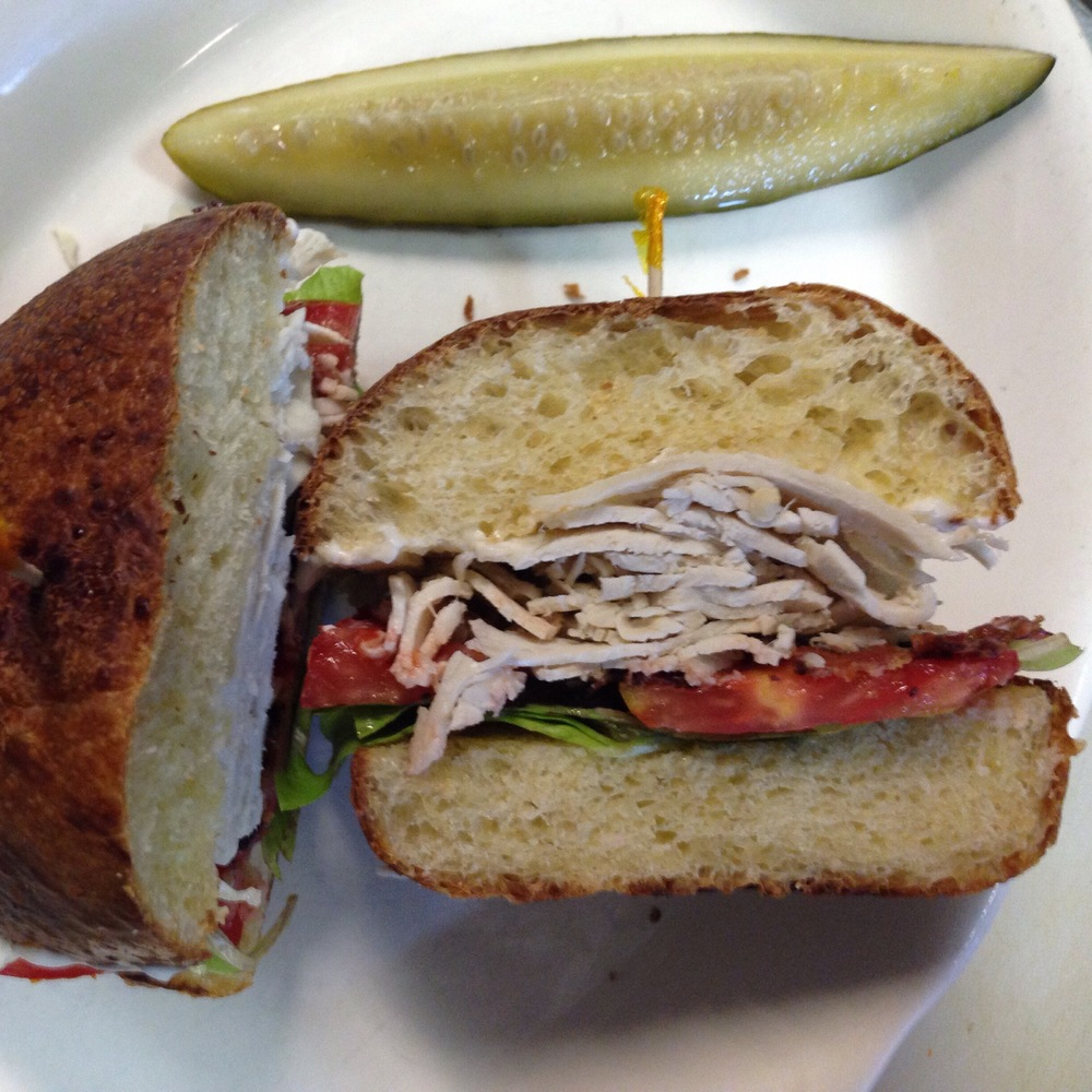 Roasted Turkey BLT on House Challah