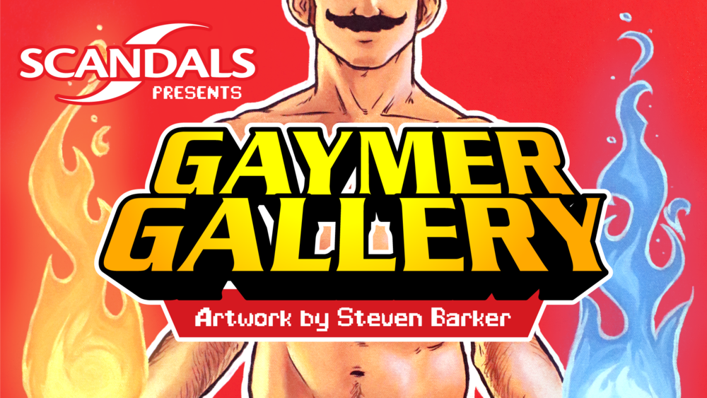 "For the month of March Scandals welcomes to the walls, for his debut solo art show, the work of our very own nerdy designer, Steven Barker! Join us for a night of ""Gayming"" with live music by local string trio, Trilemma, playing familiar songs from classic video games, collect as much swag as you can, jam out on some games from the various systems that will be plugged in and ready to play, and check out the ""Gaymer Gallery"" adoring our bar!  There will be a raffle for some amazing prizes including a brand new SNES Classic Mini with a portion of proceeds going to Smyrc, and prints of select paintings for sale as well as the paintings themselves! And Not Your Father's will be here also serving up their new Mountain Ale, so be sure to check out this tasty adult Gaymer Juice while you're here! Also, if you're wanting to dress up, Gaymer Cosplay is highly encouraged! See you soon, Proud Gaymers!   Be sure to join the event on facebook here!"