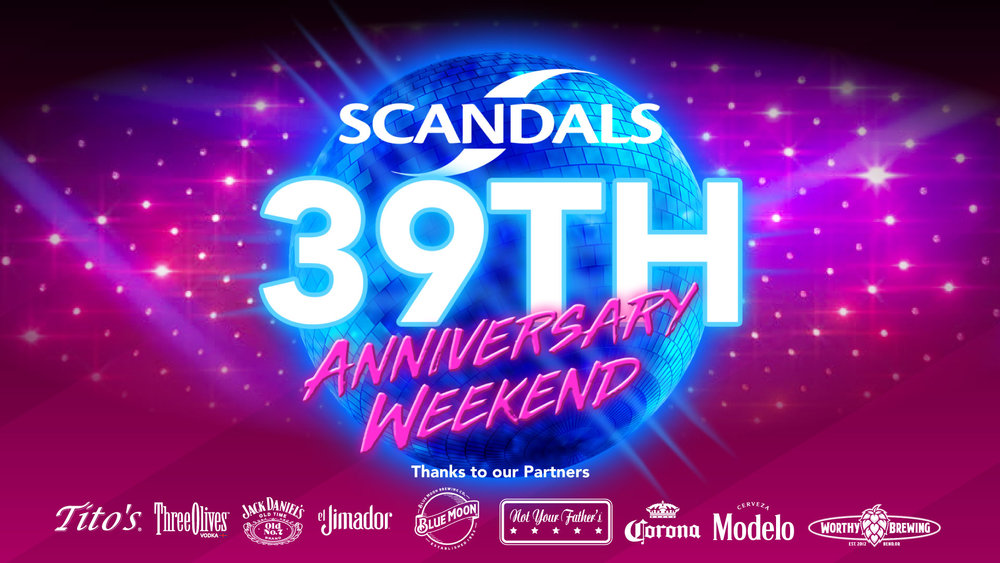 Scandals is celebrating our 39th year as a Portland gay bar and we would love for all of you to come down and celebrate with us! There will be fun events happening all weekend long so make sure to come down and join in our anniversary festivities!   Click here to join all of the events listed below!