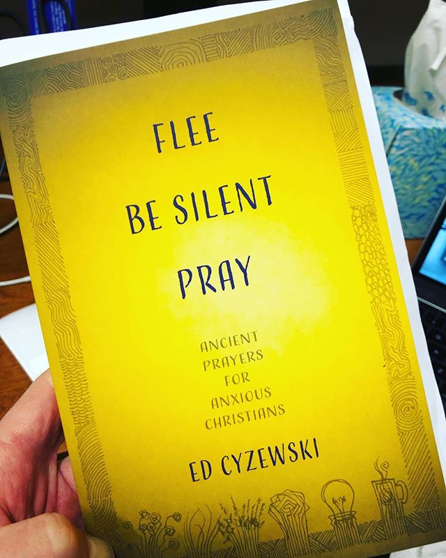 "Happy to unbox a copy of @edcyzewski ""Flee, Be Silent, Pray."" Just released today, already #1 right now on Amazon for Books on Prayer! A worthy read from a gifted writer. #spiritualformation"