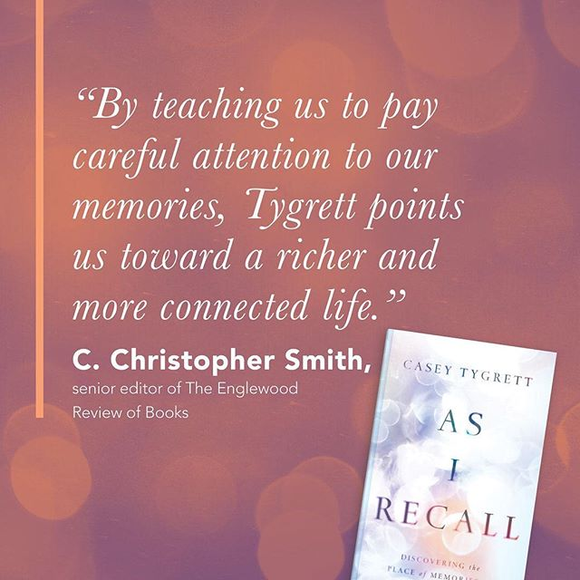 Grateful for C. Christopher Smith's words regarding #asirecall // Available now on Amazon/Barnes and Noble, etc.  https://amzn.to/2VbxEUt