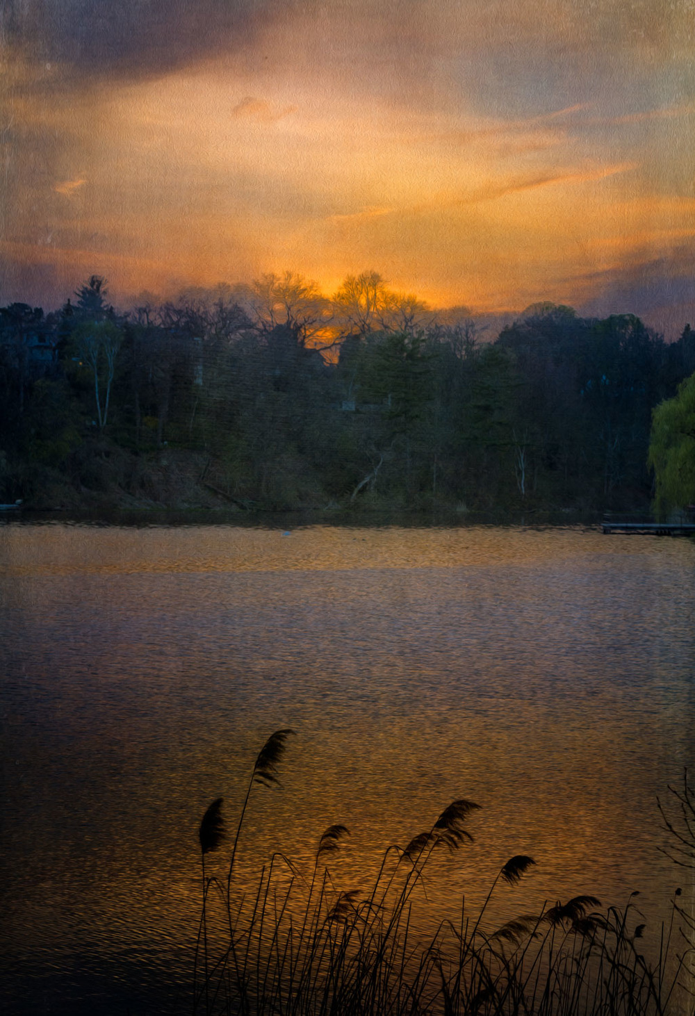 Grenadier pond sunset
