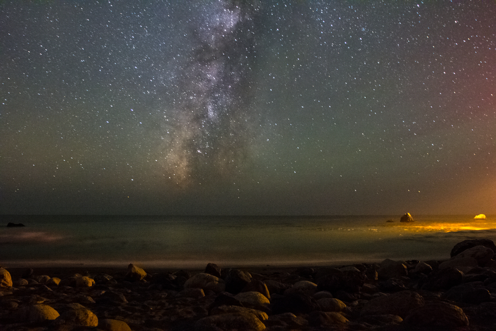 Milky Way over the Ocea in Big Sur.jpg