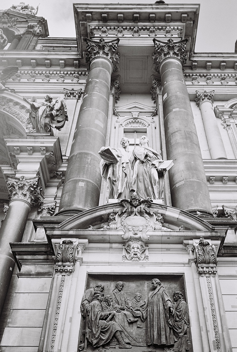 a detail of berliner dom