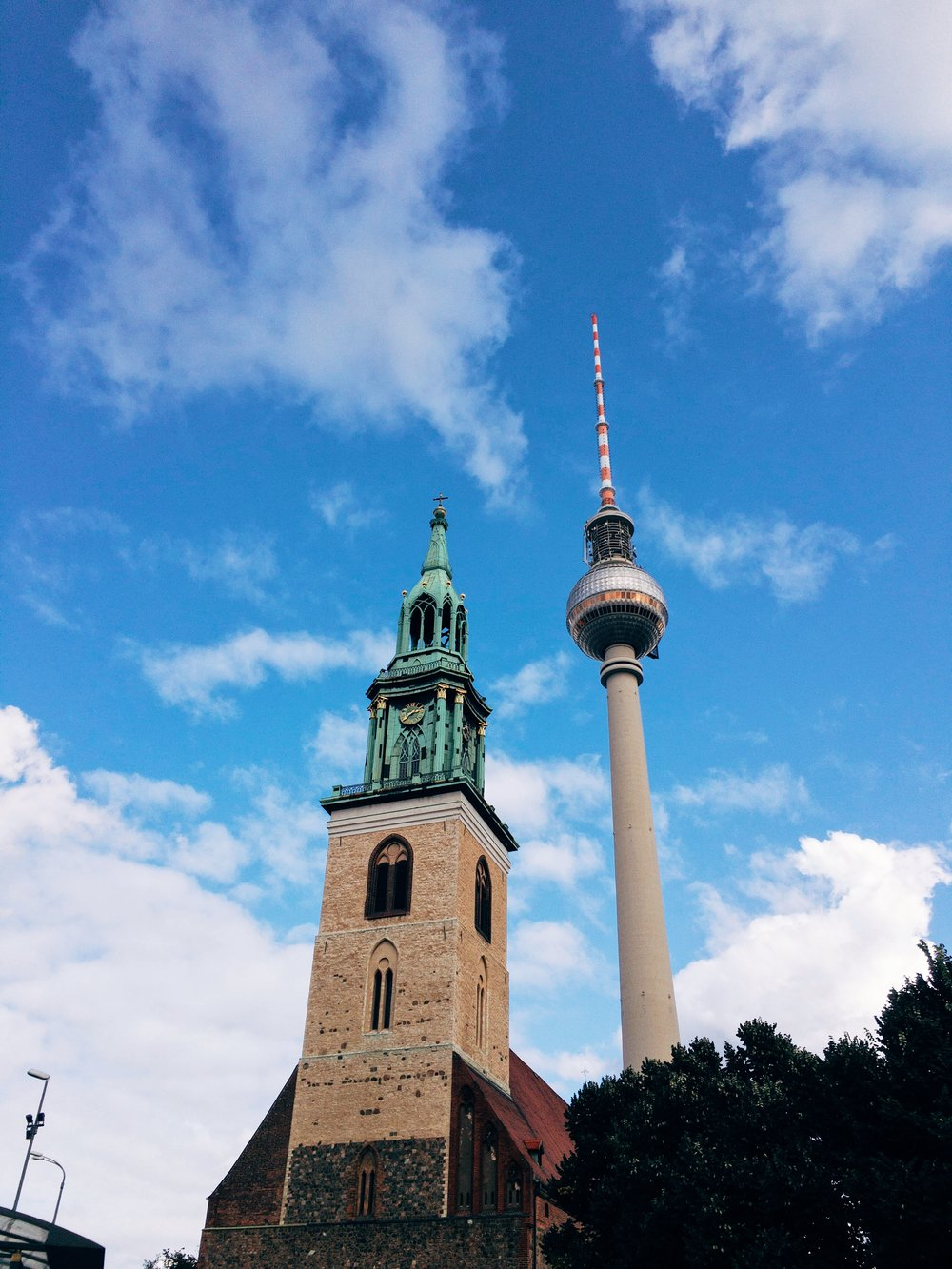 marienkirche and fernsehturm