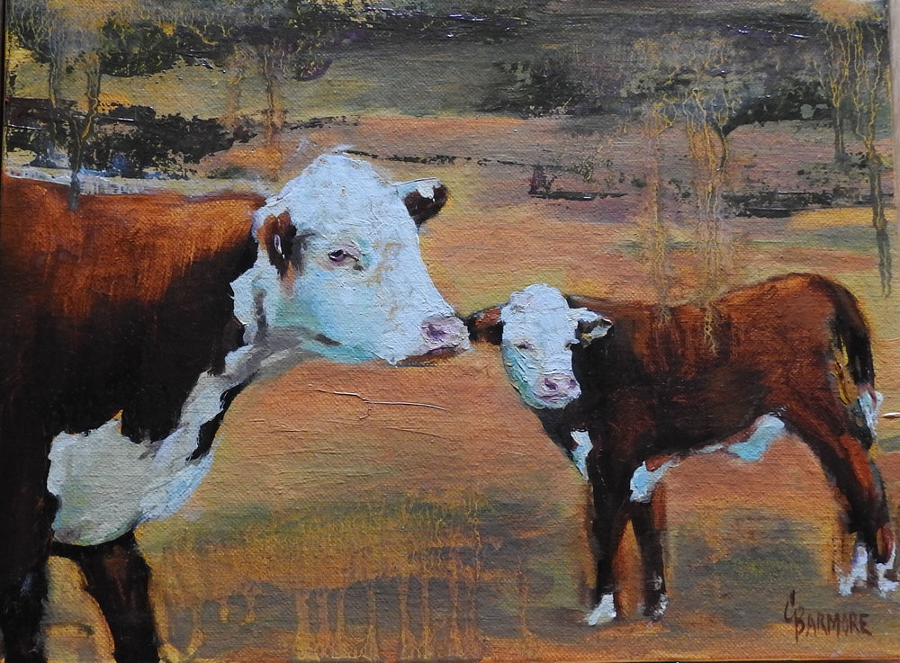 Apocalyptic Cows 8x10 Oil on Linen