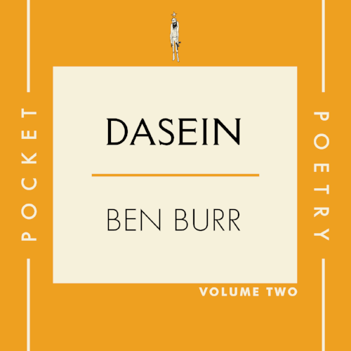 Super thrilled to announce the upcoming release of Ben Burr's epic poem, DASEIN out May 7 via our very own CTR Press. It is VOL. 2 in our new pocket poetry series. Ben is a rare and inspiring jewel in Nashville. If you know, you just know. If you don't know, do yourself a favor and check it out. Celebration Party and live reading will take place at Fond Object in East Nashville Sunday, May 7 at 4pm with many special guests and live music.  Pre-orders  for the book, which will include an audio download of Ben reading are available in the CTR store and select Bookstores now!