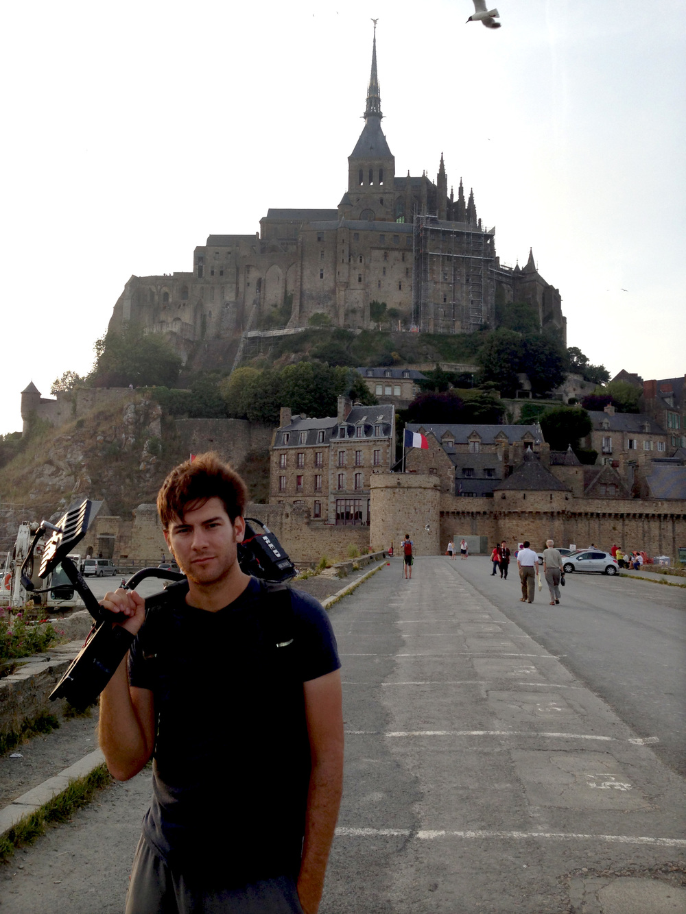 Twilight at Mt. St. Michel in Normandy.