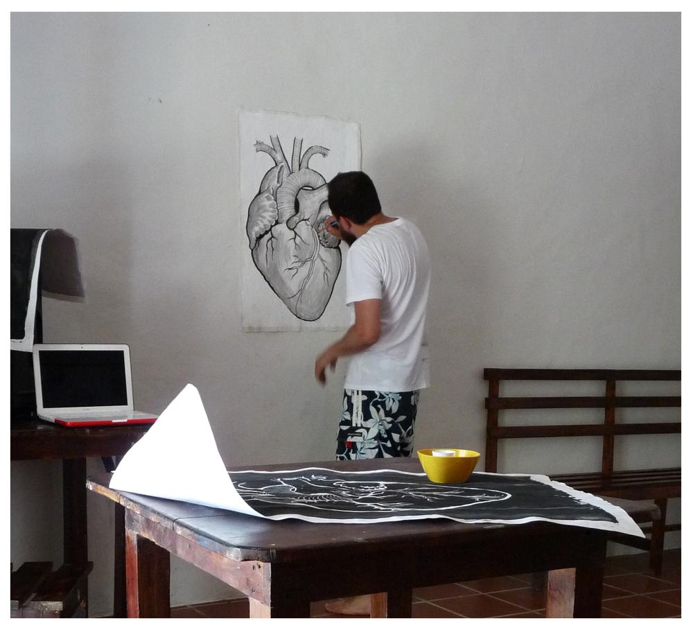 Proceso de la obra. La Antigua, abril 2015