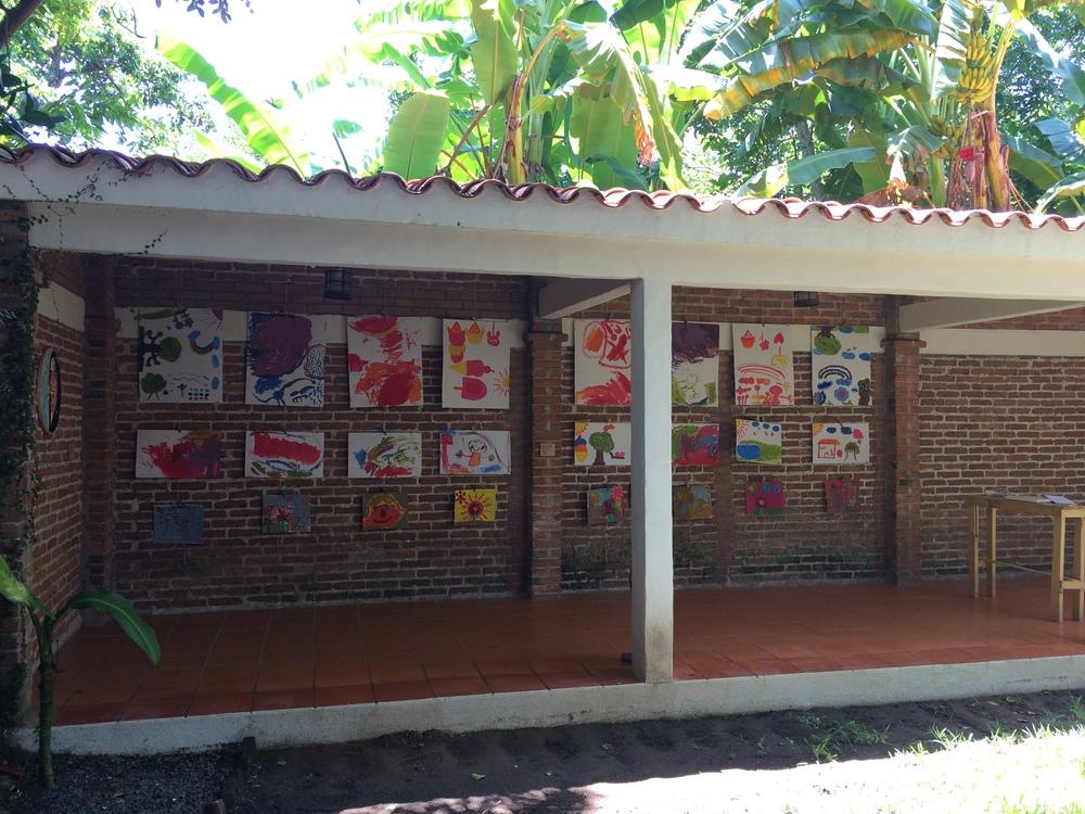 Viridiana Ortiz: Trabajos realizados en el taller de dibujo y pintura, con niños de La Antigua.