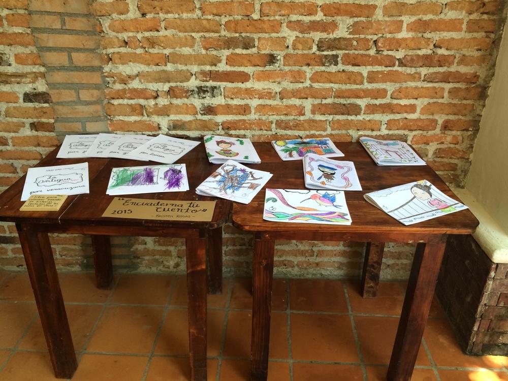 """Kristell Rosas: Trabajo realizado en el taller """"Encuaderna tu cuento""""; cuento para colorear con referencia a ilustraciones de La Antigua."""