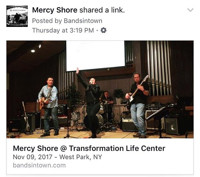 Tomorrow @mercyshore at TLC ♥️