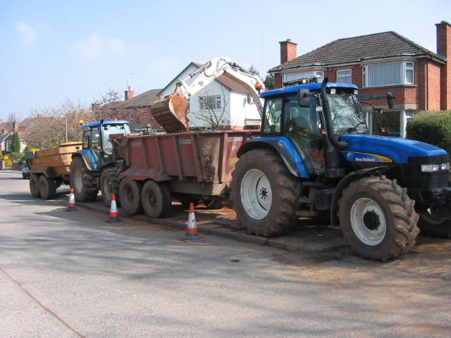 porter contracts drumbo with dump trailers landscaping belfast