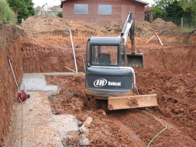 landscape excavation removal of spoil from belfast garden