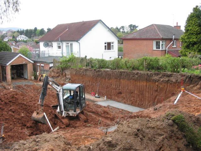 digger work in garden belfast for groundworks