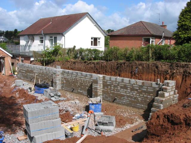 blockwork garden wall construction landscaping in belfast