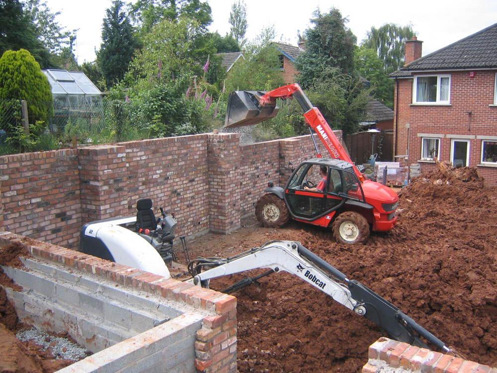 retaining walls in landscaping of garden belfast northern ireland