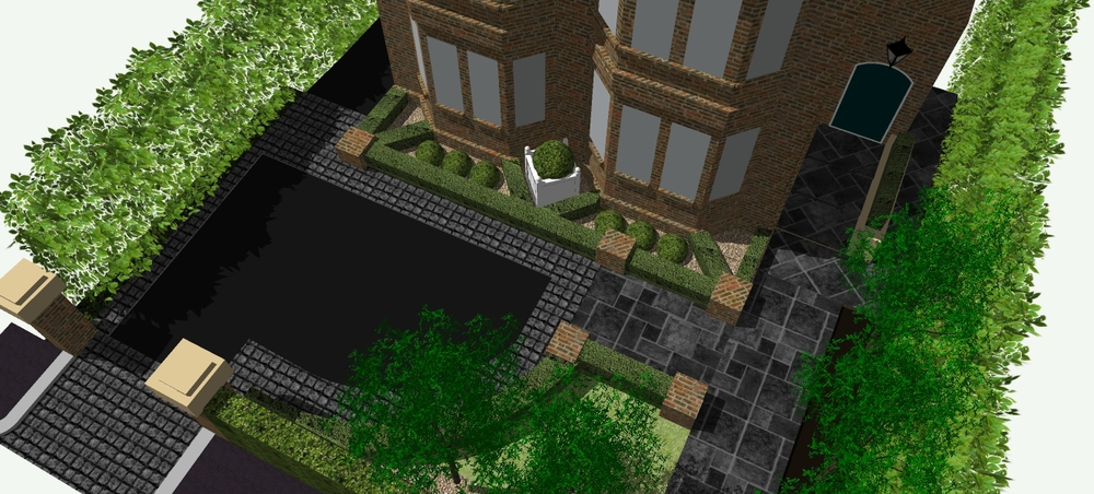 driveway and front garden 3d design in belfast dunnlandscapes
