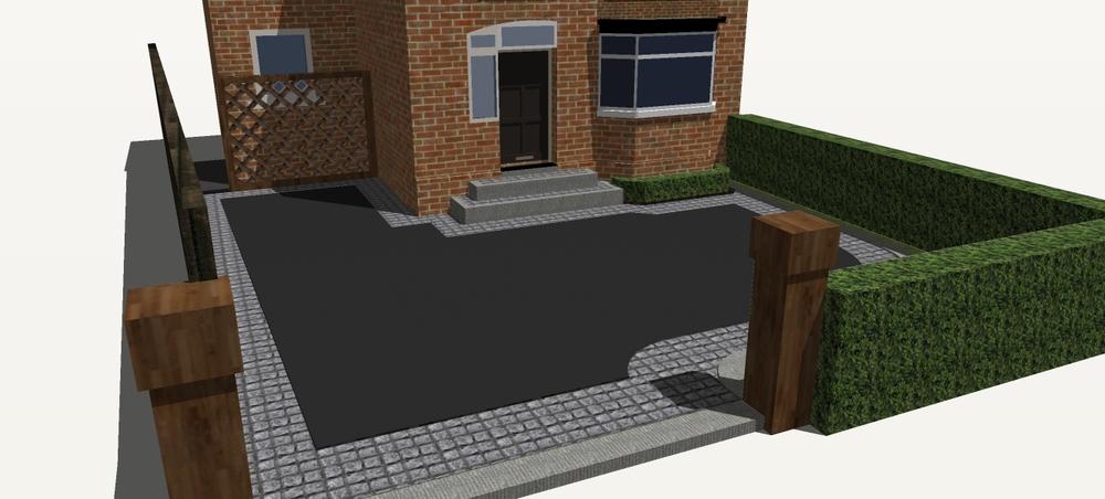 front garden and driveway design belfast northern ireland