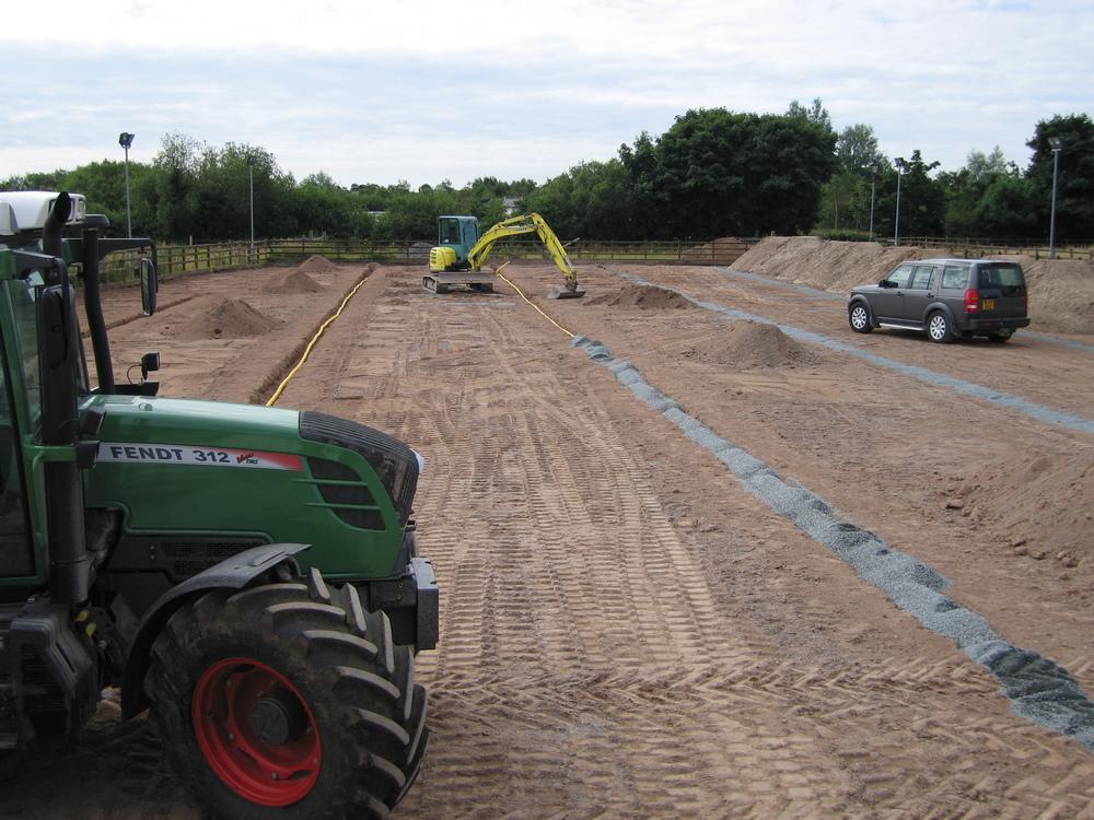 equestrian arena construction using fendt tractor ni uk