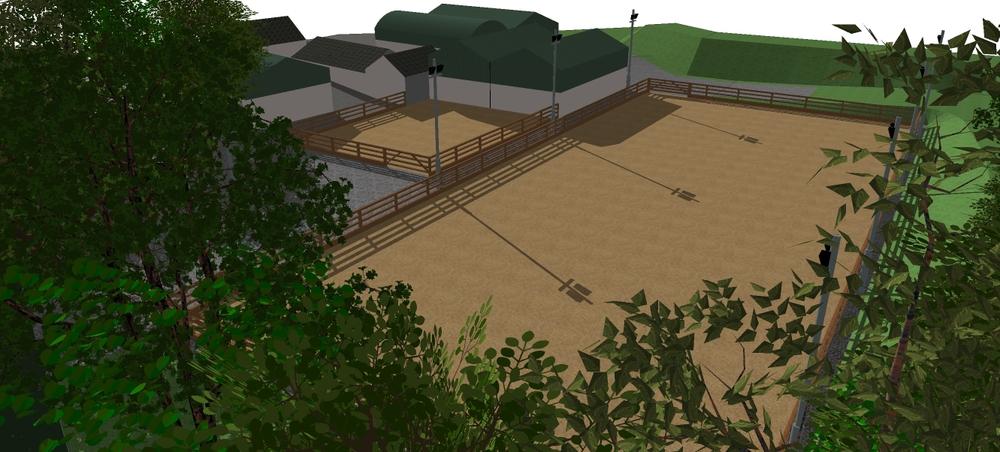 3D design equestrian arenas