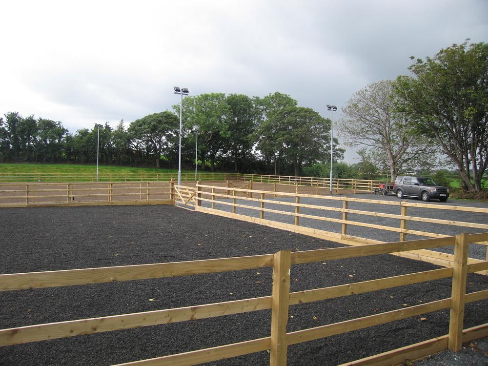 Equestrian facilities arena fencing Ireland