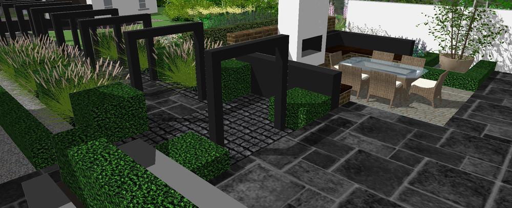 Garden design in Belfast Northern Ireland