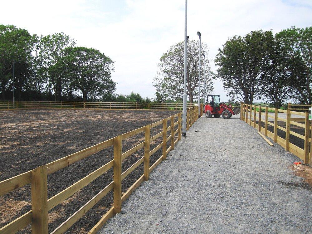construction of equestrian sandschool northern ireland