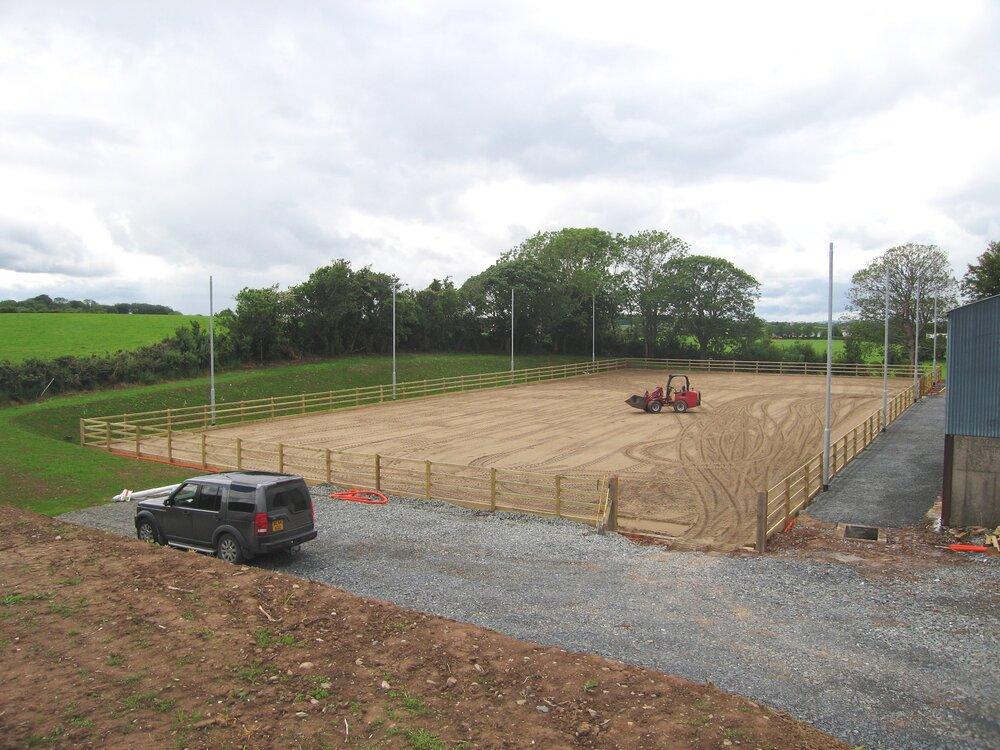 horse sandschool construction Northern Ireland